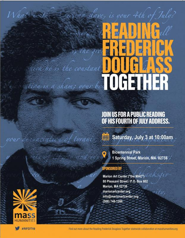 Marion Art Center to host public reading of Frederick Douglas speech