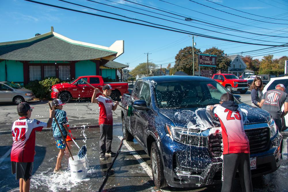 Next stop, Cooperstown: local baseball club holds carwash fundraiser
